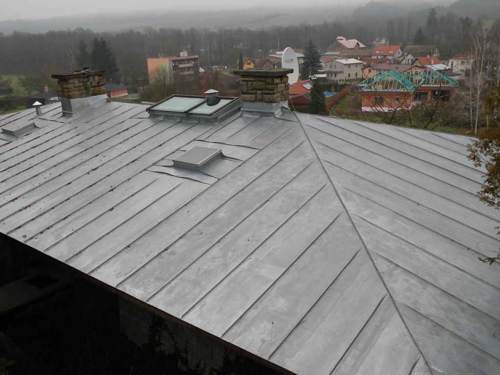 Falcovaná krytina TiZn – Klempířské práce Střechy Matějka